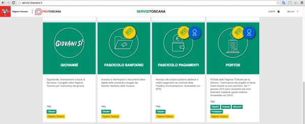 4. andate su http://servizi.toscana.it/ e cliccate su Fascicolo Sanitario Elettronico